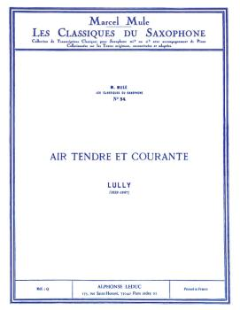 Air Tendre et Courante - Classiques No. 34 (for Alto Saxophone and Pia (HL-48180880)