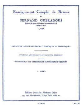 Exercises Complementaires Techniques et Melodiques - Volume 3: [Techni (HL-48180907)
