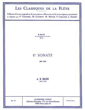 Sonata No. 1, BWV1030 in B Minor - Classiques No. 1 (for Flute and Pia (HL-48180910)
