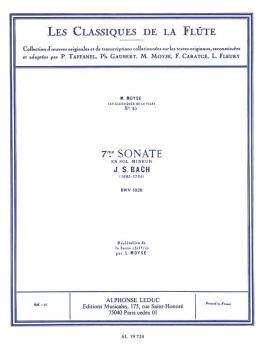 Sonata No. 7, BWV1020 in G Minor - Classiques No. 15 (for Flute and Pi (HL-48180915)