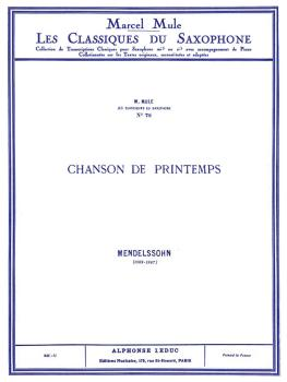 Chanson de Printemps - Op. 62 No. 6 in A Major (for Tenor Saxophone an (HL-48180928)