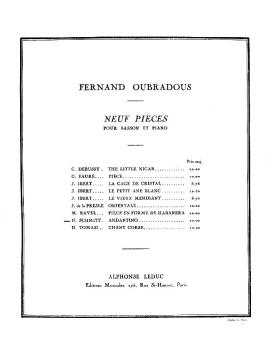 Schmitt Oubradous Andantino (for Bassoon and Piano) (HL-48181007)