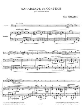 Sarabande et Cortege pour Basson et Piano (for Bassoon and Piano) (HL-48181054)