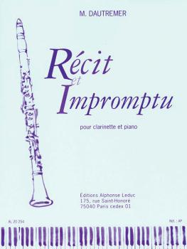 Récit et Impromptu (for Clarinet and Piano) (HL-48181105)