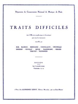 Traits Difficiles (for Bassoon) (HL-48181112)