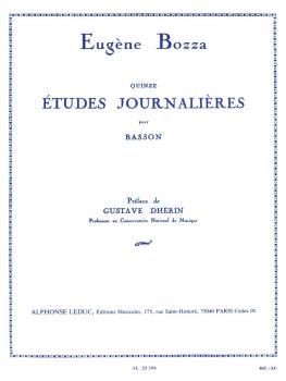 Quinze Etudes Journalieres pour Basson (for Bassoon) (HL-48181163)