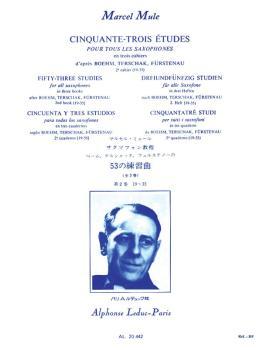 Cinquante-Trois Etudes pour Tous Les Saxophones - Volume 2 (HL-48181179)