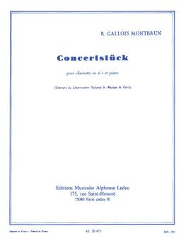 Concertstück pour Clarinette et Piano (for Clarinet and Piano) (HL-48181192)