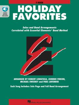 Essential Elements Holiday Favorites: F Horn Book with Online Audio (HL-00870014)