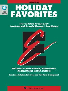 Essential Elements Holiday Favorites: Percussion Book with Online Audi (HL-00870019)