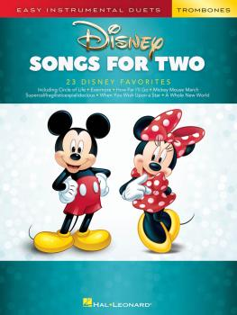 Disney Songs for Two Trombones: Easy Instrumental Duets (HL-00284647)