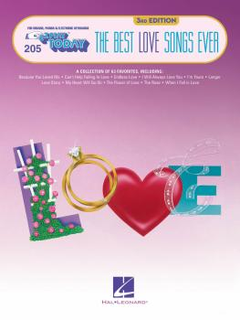 The Best Love Songs Ever - 3rd Edition: E-Z Play® Today Volume 205 (HL-00284127)