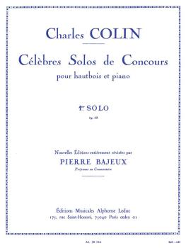Celebres Solos de Concours - 1st Solo, No. 33 (for Oboe and Piano) (HL-48181136)