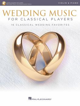 Wedding Music for Classical Players - Violin and Piano (With online au (HL-00261617)