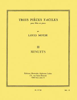 3 Pieces No. 3 - Menuets (for Flute and Piano) (HL-48180927)