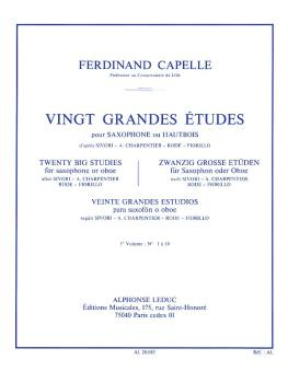 Twenty Big Studies for Saxophone or Oboe - Volume 1 (HL-48181050)