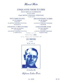 Cinquante-Trois Edtudes pour Tour Les Saxophone - Volume 3 (HL-48181180)