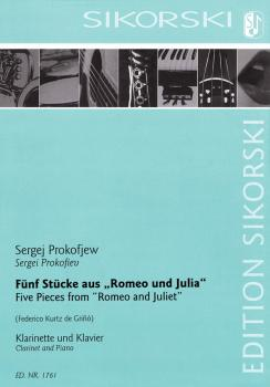 5 Pieces (from 'Romeo and Juliet' Clarinet and Piano) (HL-50601637)