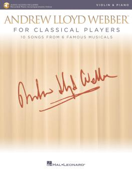 Andrew Lloyd Webber for Classical Players - Violin and Piano (With onl (HL-00275674)