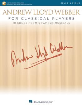 Andrew Lloyd Webber for Classical Players - Cello and Piano (With onli (HL-00275675)
