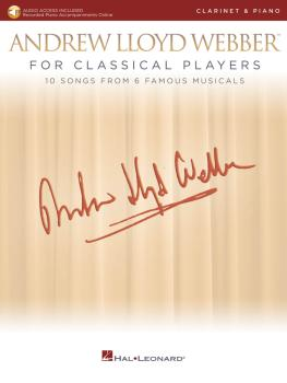 Andrew Lloyd Webber for Classical Players - Clarinet and Piano (With o (HL-00275677)