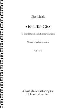 Sentences: Countertenor and Chamber Orchestra Full Score (HL-00276513)