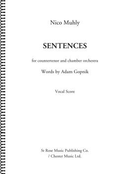 Sentences: Countertenor and Chamber Orchestra Vocal Score (HL-00276515)