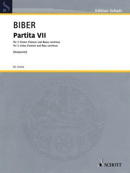 Partita VII: 2 Viola D'Amore and Basso Continuno Score and Parts (HL-49046110)