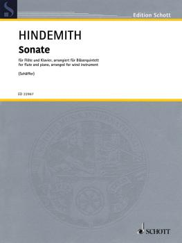 Sonate (for Flute and Piano arranged for Wind Quintet Score and Parts) (HL-49046145)