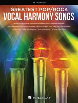 Greatest Pop/Rock Vocal Harmony Songs: Note-for-Note Vocal Transcripti (HL-00278178)