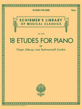 18 Etudes for Piano by Chopin, Debussy, Liszt, Rachmaninoff, Scriabin: (HL-50601570)