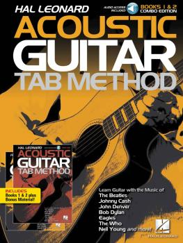 Hal Leonard Acoustic Guitar Tab Method - Combo Edition: Books 1 & 2 wi (HL-00289016)
