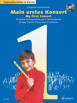 My First Concert: 25 Easy Concert Pieces from 5 Centuries: Descant Rec (HL-49046230)