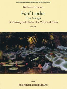Five Songs Op. 39 (Voice and Piano) (HL-50602043)