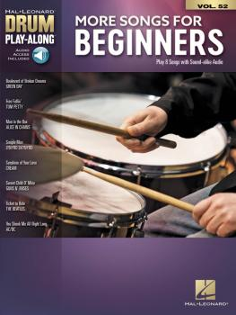 More Songs for Beginners: Drum Play-Along Volume 52 (HL-00278403)