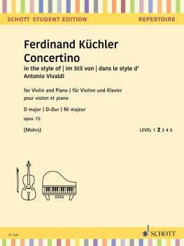 Concertino D Minor Op. 15 (Violin and Piano) (HL-49046262)