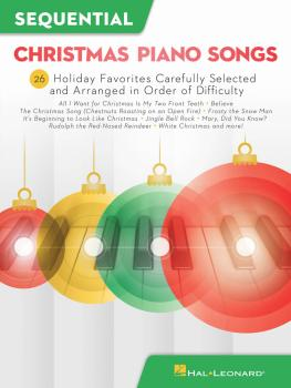 Sequential Christmas Piano Songs: 26 Holiday Favorites Carefully Selec (HL-00294929)