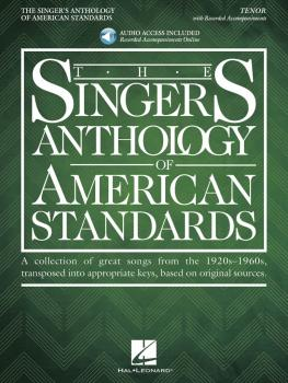 The Singer's Anthology of American Standards: Tenor Edition Book/Audio (HL-00294614)