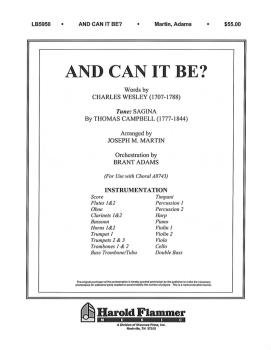 And Can It Be? (from Testament of Praise) (HL-35000953)