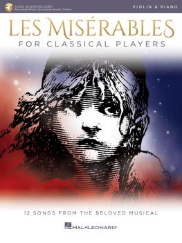 Les Misérables for Classical Players: Violin and Piano with Online Acc (HL-00284865)