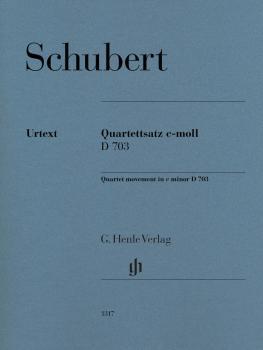 String Quartet Movement (Quartettsatz) in C Minor, D. 703 (Score and P (HL-51481317)