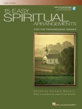 15 Easy Spiritual Arrangements for the Progressing Singer (Low Voice) (HL-00000392)