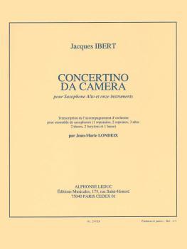 Concertino da Camera (for Alto Saxophone and Saxophone Ensemble) (HL-48185457)