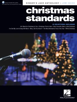 Christmas Standards: Singer's Jazz Anthology - Low Voice with Recorded (HL-00347296)