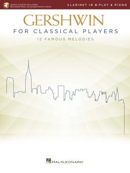 Gershwin for Classical Players: Clarinet and Piano Book with Recorded  (HL-00299875)