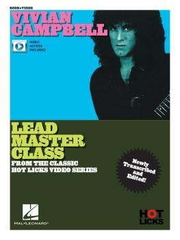 Vivian Campbell - Lead Master Class Instructional Book with Online Vid (HL-00345750)