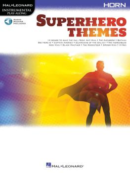 Superhero Themes Instrumental Play-Along for Horn (HL-00363200)