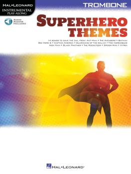 Superhero Themes Instrumental Play-Along for Trombone (HL-00363201)
