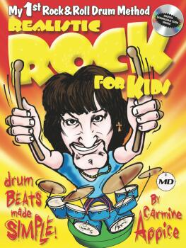 Realistic Rock for Kids: My 1st Rock & Roll Drum Method Drum Beats Mad (HL-00362589)