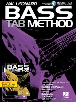 Hal Leonard Bass Tab Method: Combo Edition of Books 1 & 2 with Online  (HL-00368645)